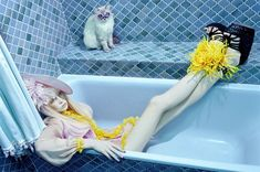 Photos by Miles Aldridge, originally published in Vogue Italia (May 2008)