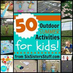 50 Outdoor Summer Activities For Kids