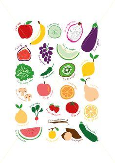23 Ideas Fruit Pattern Illustration Posts For 2019 Vegetable Drawing, Vegetable Illustration, Fruit Illustration, Fruits Drawing, Vegetable Prints, Doodles, Fruit Pattern, Canvas Prints, Art Prints
