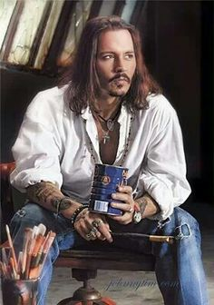 Johnny Depp...OK, so the unbuttoned look doesn't always work. But if you have the right swag, women will be falling over you.