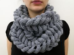 the soft scarf cowl - what great texture and bulk!