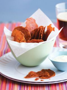 Salami Chips with Grainy Mustard Dip    http://www.ivillage.com/salami-chips-grainy-mustard-dip/3-r-492913
