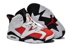 new product 98b66 9e568 Popular Nike Air Jordan 6 Kids White Red Black, Price   61.00 - Air Jordan  Shoes, Michael Jordan Shoes