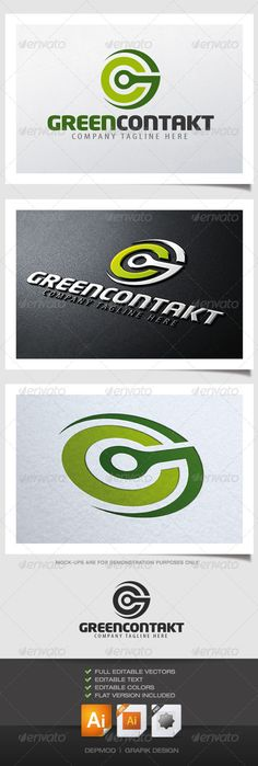 Green Contakt Logo #GraphicRiver Two letter can be used with this logo. Can be a G or a C or both. Full vectors, this logo can be resize and colors can be changed without problem to fit your project. The fonts used are in a download file in the package. Fonts : .fontpalace /font-download/NeoTech+Black/ .fontpalace /font-download/MyriadPro-Cond/ Files provided : .ai (CS6 and CS), .eps, .jpg, .png (transparent) Created: 19April13 GraphicsFilesIncluded: TransparentPNG #JPGImage #VectorEPS…