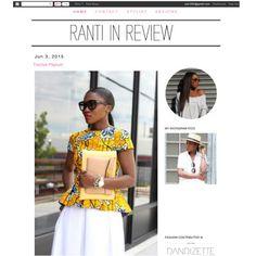 Ranti in Review wearing a YS Ankara Peplum Top