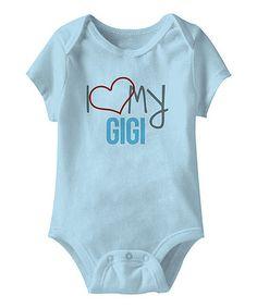 Loving this Blue 'I Love My Gigi' Bodysuit - Infant on #zulily! #zulilyfinds