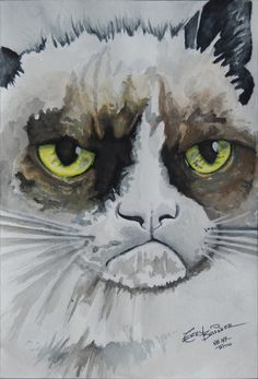 TardarSauce In Watercolor by =Teryakisan on deviantART #Tard #GrumpyCat