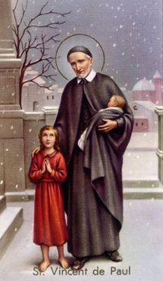 "September 27: St. Vincent de Paul (born 1580, died 1660; aged 80). He founded the ""Daughters of Charity"" and is the patron saint of charities."