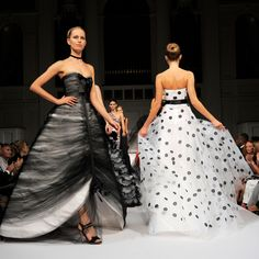 """Unforgettable Atmosphere: Oscar de la Renta Spring 2011 """"Before Oscar held his shows at his showroom, he presented in a building on Park Avenue. There was something so special about his Spring 2011 show there—the dramatic gowns, the mood, the flawless models; it was all so magical."""""""