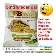 100 Kalorien - Beutel PBthins peanut butter crackers Bell Plantation ►►► Sind wieder da! #PBthins #peanutbutter #crackers #BellPlantation #Kalorien #ErdnussbutterSnack #fitness #fitnessschweiz #active12 #natural #Snacks #naschen #TvSnack #TakeAway #Diät #Kalorienkontrolle #snacken