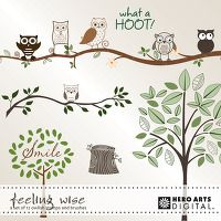 DigiKit - HA Feeling Wise By Hero Arts      What a hoot! An owlish set of stamps and brushes (png & abr formats). Lots of Hero Arts extras included.