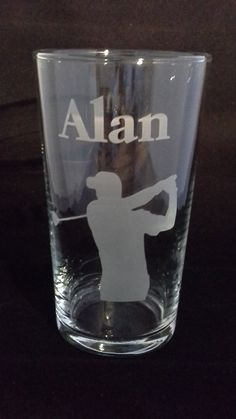 Personalised Pint glass with any message on.