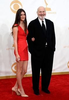 #emmyfashion Director Rob Reiner (R) and daugher Tracy Reiner arrive at the 65th Annual Primetime Emmy Awards held at Nokia Theatre L.A. Live on September 22, 2013 in Los Angeles, California.