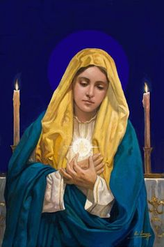 Our Blessed Virgin Mary Our Lady Of the Most Holy Eucharist Mother Of Christ, Blessed Mother Mary, Blessed Virgin Mary, Mother Teresa, Catholic Art, Religious Art, Roman Catholic, Images Du Christ, Images Of Mary