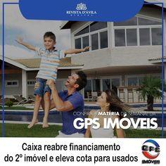 GPS Imóveis: Cota de financiamento de imóvel usado atualmente em 50% passará a 70% aumento que causará um impacto positivo no mercado de imóveis. Acompanhe na Revista DÁvila as matérias semanais da GPS Imóveis e também de todos os outros parceiros. http://ift.tt/1UOAUiP (link na bio).