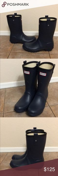 Hunter Original Short Men's Boot Wellies sz 9 No Trades, No Box, freshly cleaned and gently used, shows some wear on bottom soles Hunter Boots Shoes Rain & Snow Boots