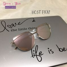 28bd7d485ec Hp 3x Pink Cat Eye Mirrored Sunglasses Pink Mirror