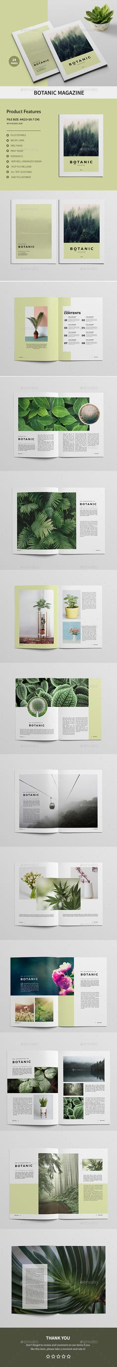 Botanic Magazine - Magazines Print Templates Download here : https://graphicriver.net/item/botanic-magazine/19956161?s_rank=23&ref=Al-fatih #magazine #magazine template #magazine layout #template #premium design #design grafis #layout #creative design #indesign magazine
