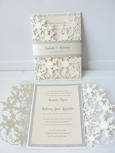 35 Beautiful Winter Wedding Stationery Ideas | HappyWedd.com #PinoftheDay…
