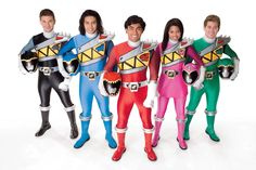 The cast of Power Rangers Dino Charge. This is actually a great show. It's also gained national attention for the first Pink Ranger to be African-American.
