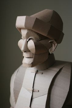 Life-Size Cardboard Figures Of Shaoxing Villagers – Fubiz Media Cardboard Mask, Cardboard Sculpture, Cardboard Paper, Cardboard Crafts, Sculpture Art, Paper Crafts, Art From Recycled Materials, Recycled Art, Paper Mache Clay