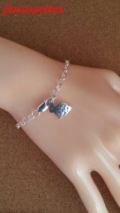 Bunny Dainty Bracelet Rabbit Dainty Bracelet by flowerpecker