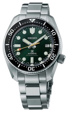The Seiko Prospex SLA047 automatic model features a 44.3-mm steel monobloc case and is powered by the automatic movement, Seiko Caliber 8L35 #seiko #seikoprospex #divewatch #watchtime #watches #watchoftheday #watchnerd #watchgeek Okinawa, Seiko Sumo, Seiko Solar, Small Case, Seiko Watches, Stainless Steel Bracelet, Omega Watch, Diving, Anniversary