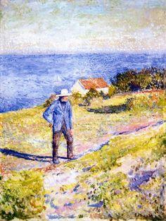 The Athenaeum - Sunny Day in Åsgårdstrand (1890) (Edvard Munch - )
