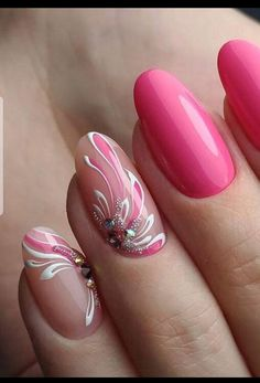 55 beautiful nail art designs for coffin nails 19 Gel Nail Designs, Cute Nail Designs, Beautiful Nail Art, Gorgeous Nails, Spring Nails, Summer Nails, Cute Nails, Pretty Nails, Hair And Nails