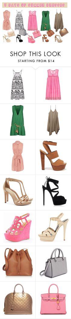 Designer Clothes, Shoes & Bags for Women 5 Days Of Summer, Sophie Hulme, Wet Seal, Dsquared2, Steve Madden, Yves Saint Laurent, Tory Burch, Glamour, Summer Dresses