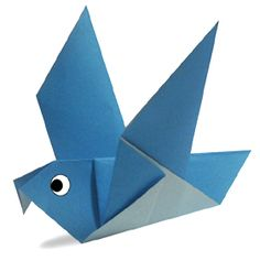 Origami Pigeon Site has animation showing how to fold, when to fold.  Great Site!