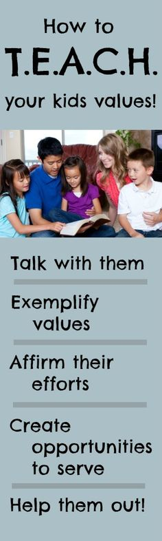 Teach your children the values they'll need to walk with God and fulfill their calling!