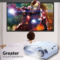 Wish | Portable Mini LED Projector with USB SD VGA HDMI AV for Party,Home Entertainment,Support 1920*1080 1080p,20000 Hours Led life with Remote Control
