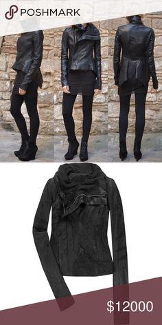 01cb1a0b72e ISO worn damaged Rick Owens leather jacket S XS