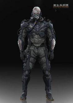 Cry Anime, Anime Art, Metal Gear Online, Character Concept, Character Art, Cyberpunk Kunst, Arte Ninja, Futuristic Armour, Armadura Medieval