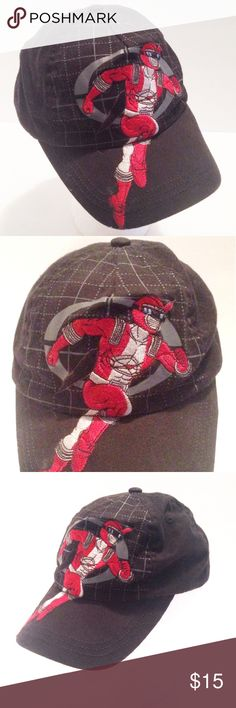 "Mighty Morphin Power Rangers Red Ranger Cap Mighty Morphin Power Rangers Red Ranger Baseball Cap or Hat?  Disney Store  Size XS with Velcro Strap (6 to 7"" Across as Pictured)  FREE DOMESTIC SHIPPING!!!  If you have any questions or concerns about your item(s) upon receipt, please message me so that I may address them - Your satisfaction is my HIGHEST priority! Disney Accessories Hats"