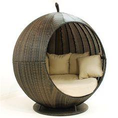 Apple Day Bed Oak Furniture House, Luxury Garden Furniture, Modern Outdoor Furniture, Rattan Furniture, Online Furniture, Furniture Decor, Rattan Daybed, Outdoor Daybed, Outdoor Loungers