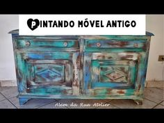 Como restaurar móvel antigo de madeira - Passo a passo - YouTube Hope Chest, Chalk Paint, Woodworking Plans, Decorative Boxes, Rustic, Projects, Painting, Furniture, Color