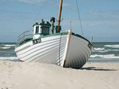 Fishing boat on the beach of Løkken, Denmark