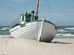 Fishing boat on the beach of Løkken, Denmark