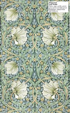 Lovely Arts And Crafts / Art Nouveau Style Printed Decorative Tile William Morris -taken from an original wallpaper design William Morris Wallpaper, William Morris Art, Morris Wallpapers, Of Wallpaper, Designer Wallpaper, Paisley Wallpaper, Wallpaper Designs, Beautiful Wallpaper, Vintage Patterns
