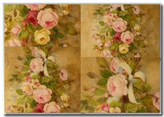 old painted roses  ©  Original painting by Helen Flont -2012
