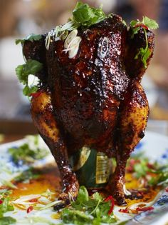 Sweet & spicy beer can chicken   Jamie Oliver