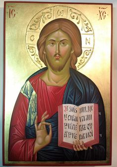Jesus Christ, icon painting, hand painted, orthodox icon, byzantine, Greek icon, christian icon, orthodox gift, iconography, religious gift