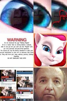 TALKING ANGELA- DANGEROUS on Pinterest  App, Safety Tips and Children