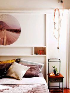 small, simple bedroom