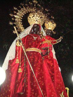 Black Jesus Christ and His mother the Black Madonna of Einselden, Switzerland
