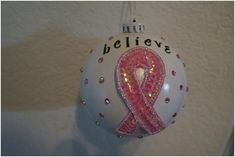 Think Crafts Blog – Craft Ideas and Projects – CreateForLess » Blog Archive » DIY Breast Cancer Ornaments