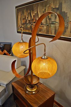 A fabulous bentwood double lamp purchased from a couple in northern Ohio. It had been in their home since the 1960's!