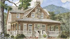 Cabin/ land:Fairview Ridge - Allison Ramsey Architects, Inc. | Southern Living House Plans